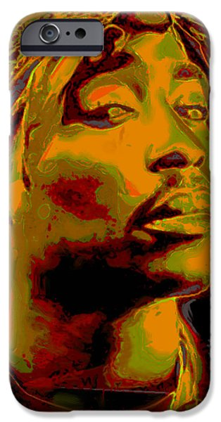 Shirt Digital iPhone Cases - 2pac  iPhone Case by  Fli Art