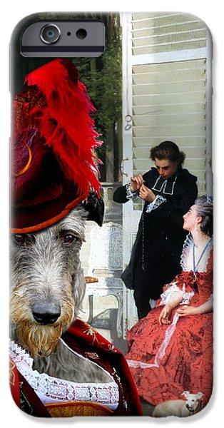 Scottish Dog iPhone Cases -  Scottish Deerhound Art Canvas Print iPhone Case by Sandra Sij