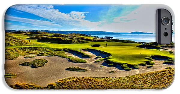 Us Open Photographs iPhone Cases - #15 at Chambers Bay Golf Course - Location of the 2015 U.S. Open Tournament iPhone Case by David Patterson
