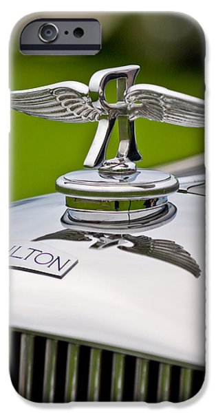 1937 Railton Rippon Brothers Special Limousine Hood Ornament iPhone Case by Jill Reger