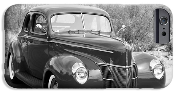 Grey Photographs iPhone Cases - 1940 Ford Deluxe Coupe iPhone Case by Jill Reger