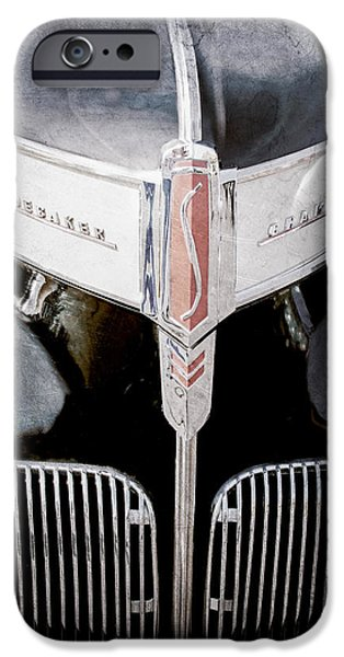 1941 iPhone Cases - 1941 Studebaker Champion Hood Emblem iPhone Case by Jill Reger