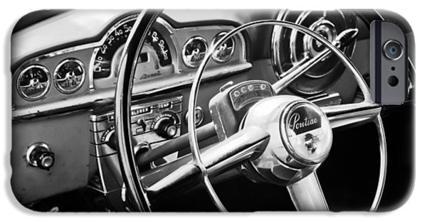 1950 iPhone Cases - 1950 Pontiac Steering Wheel Emblem iPhone Case by Jill Reger