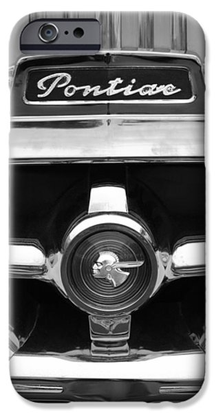 1951 Pontiac Streamliner Grille Emblem iPhone Case by Jill Reger