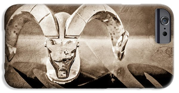 1952 iPhone Cases - 1952 Dodge Ram Hood Ornament iPhone Case by Jill Reger