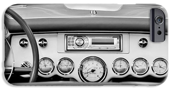 Automotive iPhone Cases - 1954 Chevrolet Corvette Dashboard iPhone Case by Jill Reger