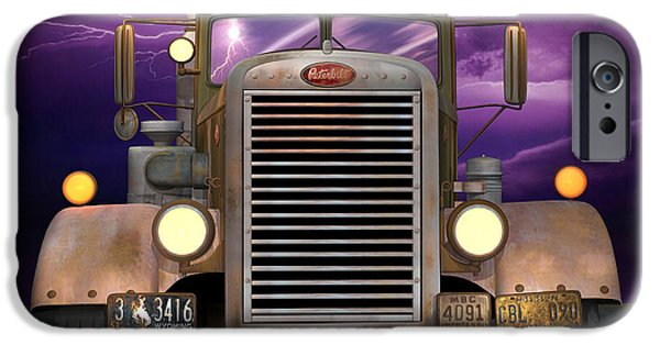 1950s Movies iPhone Cases - 1955 Peterbilt iPhone Case by Stuart Swartz