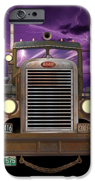 1955 Peterbilt iPhone Case by Stuart Swartz