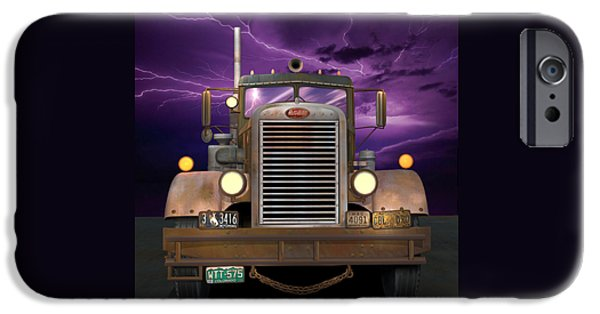 Recently Sold -  - 1950s Movies iPhone Cases - 1955 Peterbilt iPhone Case by Stuart Swartz