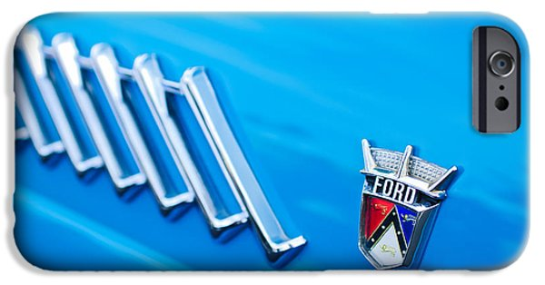 1956 iPhone Cases - 1956 Ford Thunderbird Emblem iPhone Case by Jill Reger