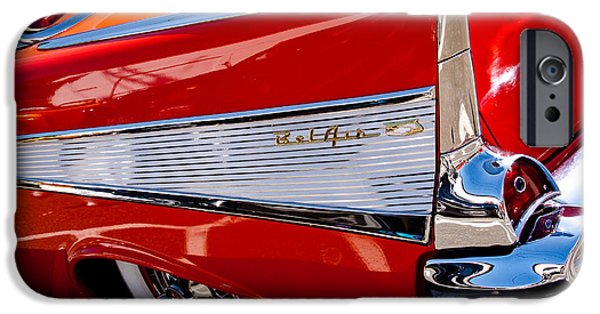 David Patterson iPhone Cases - 1957 Chevy Bel Air Custom Hot Rod iPhone Case by David Patterson