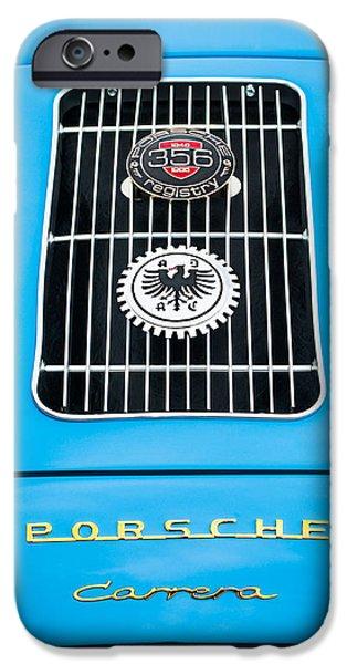 Replica iPhone Cases - 1960 Volkswagen VW Porsche 356 Carrera GS GT Replica Emblem iPhone Case by Jill Reger