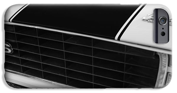 Indy Car iPhone Cases - 1969 Chevrolet Camaro RS-SS Indy Pace Car Replica Grille - Hood Emblems iPhone Case by Jill Reger