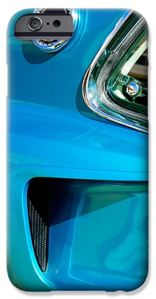 1969 iPhone Cases - 1969 Ford Mustang Mach 1 Side Emblem iPhone Case by Jill Reger
