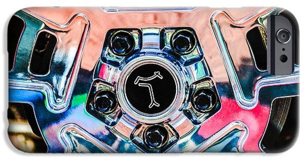 1972 iPhone Cases - 1972 DeTomaso Pantera Wheel Emblem iPhone Case by Jill Reger