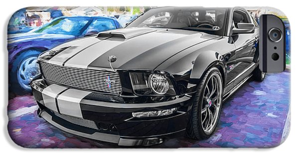 2007 iPhone Cases - 2007 Ford Mustang Shelby GT Painted  iPhone Case by Rich Franco