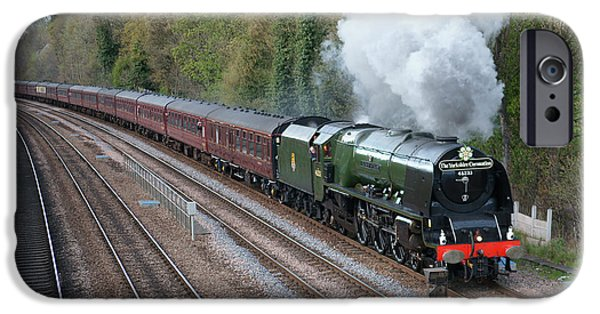 Duchess iPhone Cases - 46233 Duchess Of Sutherland at work iPhone Case by David Birchall