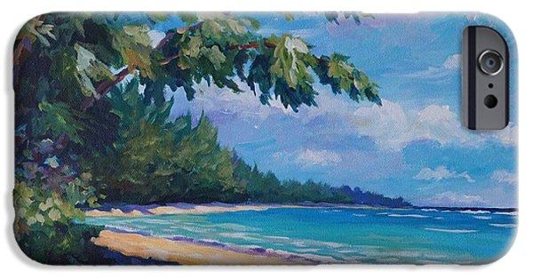 Puerto Rico iPhone Cases - 7-Mile Beach iPhone Case by John Clark