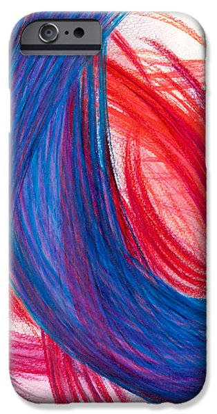 Power Lines Drawings iPhone Cases - A Passionate Intuition iPhone Case by Kelly K H B