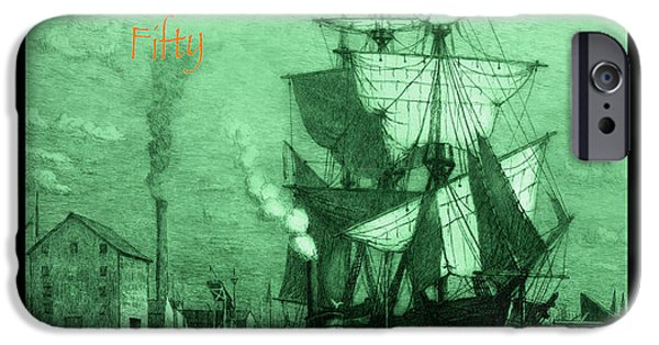 Recently Sold -  - Pirate Ships iPhone Cases - A Pirate Looks At Fifty iPhone Case by John Stephens