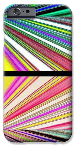 Abstract Digital Digital iPhone Cases - Abstract Fusion 221 iPhone Case by Will Borden