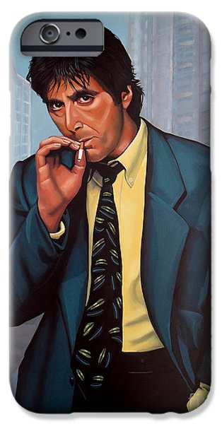 Smoking iPhone Cases - Al Pacino  iPhone Case by Paul  Meijering