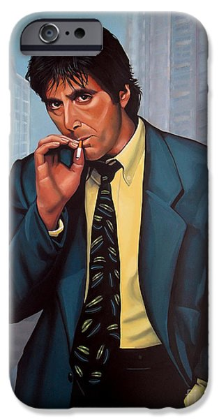Smoking iPhone Cases - Al Pacino  iPhone Case by Paul Meijering