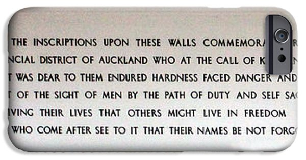 Wwi iPhone Cases - Anzac Day 2014 Auckland iPhone Case by Gee Lyon