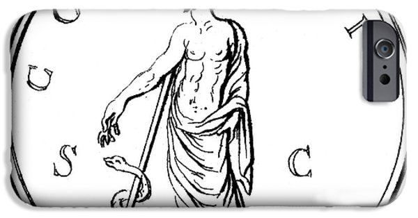 Serpent iPhone Cases - Asklepios iPhone Case by Granger