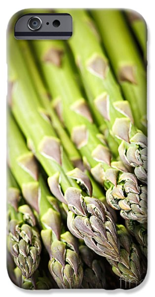 Raw iPhone Cases - Asparagus iPhone Case by Elena Elisseeva