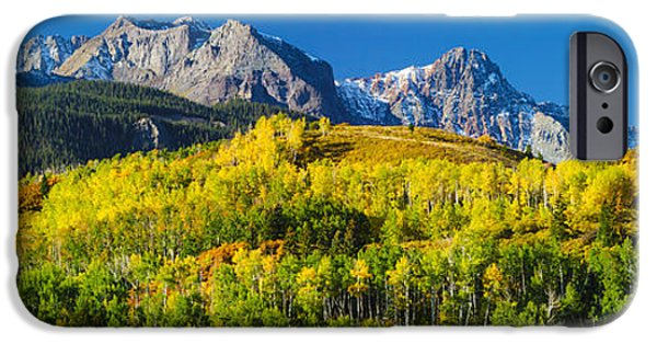 Recently Sold -  - Forest iPhone Cases - Aspen Trees With Mountains iPhone Case by Panoramic Images
