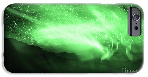 Above iPhone Cases - Aurora Borealis iPhone Case by Setsiri Silapasuwanchai