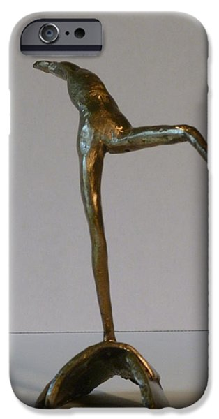 Figure Sculptures iPhone Cases - Awake iPhone Case by Janet  Lipp