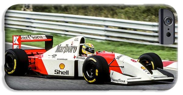 Ayrton Senna iPhone Cases - Ayrton Senna iPhone Case by Jose Bispo