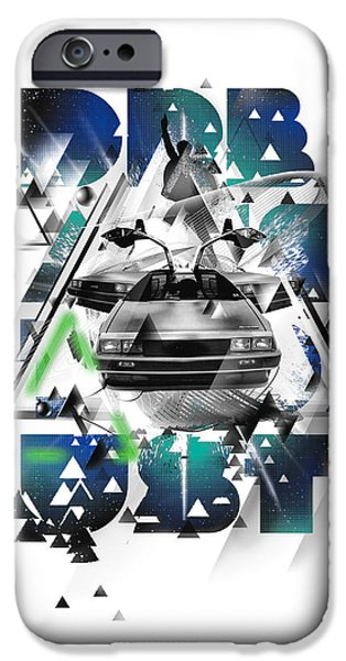 Well-known iPhone Cases - Back to the Delorean iPhone Case by Pop Culture Prophet