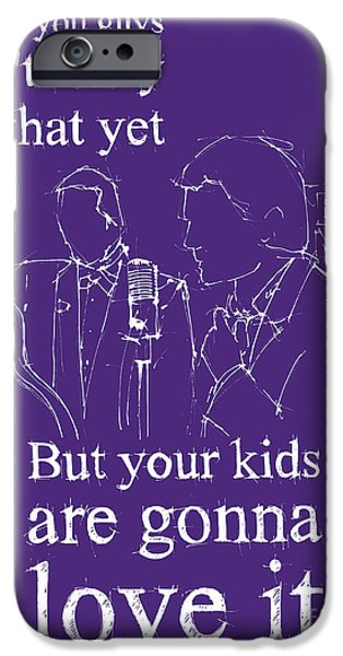 Ready To Fly iPhone Cases - Back to the future. But your kids are gonna love it iPhone Case by Pablo Franchi