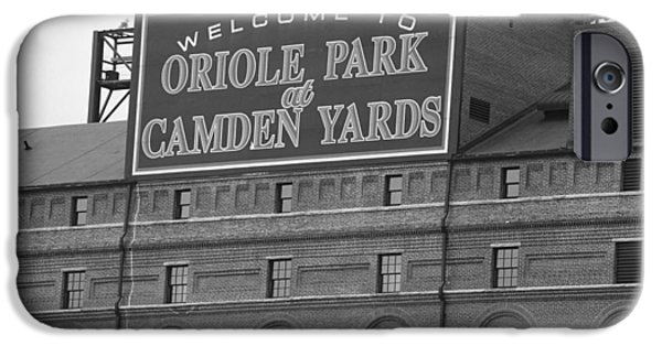 Pastimes iPhone Cases - Baltimore Orioles Park at Camden Yards iPhone Case by Frank Romeo