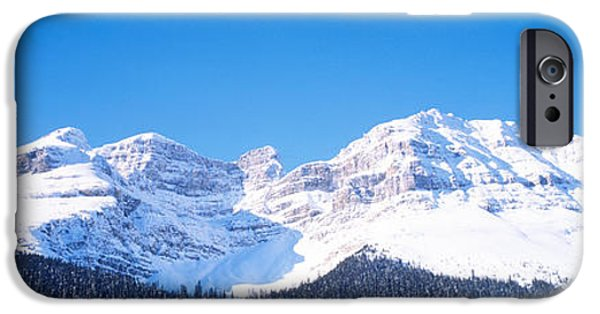 Snowy Day iPhone Cases - Banff National Park Alberta Canada iPhone Case by Panoramic Images
