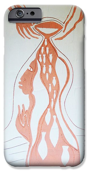 Contemporary Art Ceramics iPhone Cases - Baptism of the Lord Jesus iPhone Case by Gloria Ssali