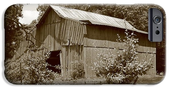 Animals Photographs iPhone Cases - Barn In The Field iPhone Case by Dwight Cook