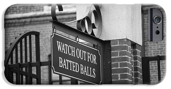 Recently Sold -  - Baseball Stadiums iPhone Cases - Baseball Warning iPhone Case by Frank Romeo