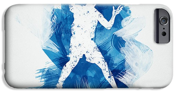 Recently Sold -  - Abstract Digital Mixed Media iPhone Cases - Basketball Player iPhone Case by Aged Pixel