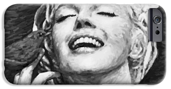 Imitation iPhone Cases - Beautifully Happy In Black And White iPhone Case by Atiketta Sangasaeng
