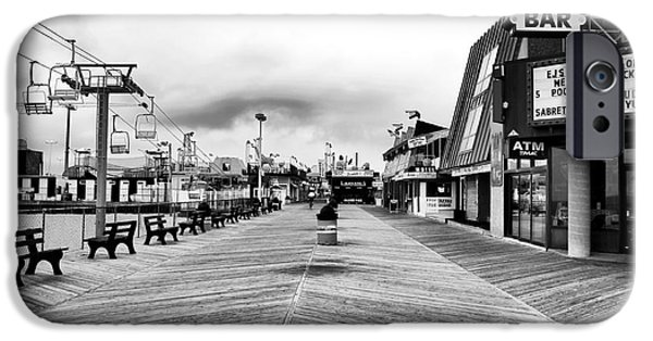 Seaside Heights iPhone Cases - Before the Crowds iPhone Case by John Rizzuto