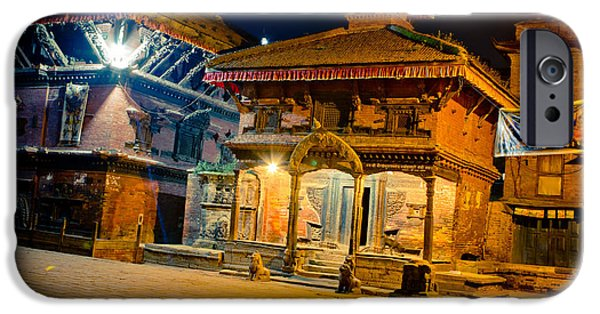 Tibetan Buddhism iPhone Cases - Bhaktapur City of Devotees Artmif.lv iPhone Case by Raimond Klavins