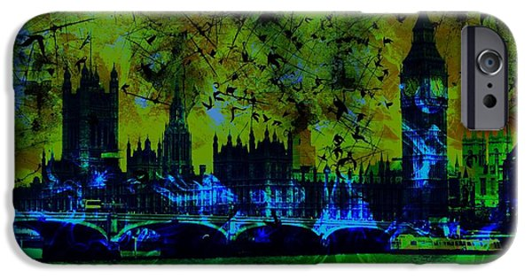 Epic iPhone Cases - Big Ben on the River Thames iPhone Case by Marina McLain