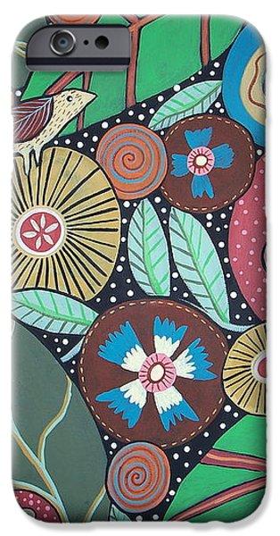 3 Bird Botanical iPhone Case by Karla Gerard