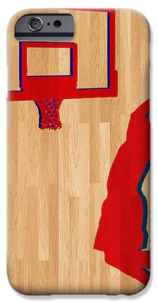 Dunk iPhone Cases - Blake Griffin Los Angeles Clippers iPhone Case by Joe Hamilton
