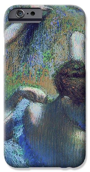 Blue Dancers iPhone Case by Edgar Degas