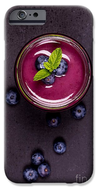 Berry iPhone Cases - Blueberry smoothie   iPhone Case by Jane Rix